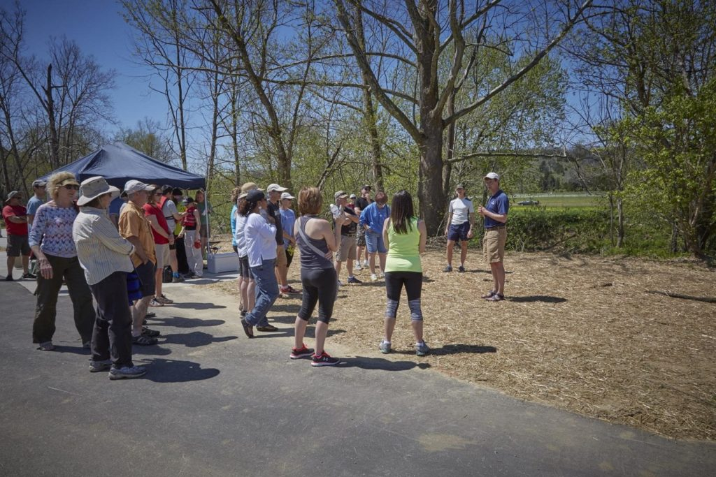 People gather in Broad Run Park