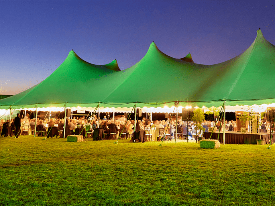 An event held under a tent