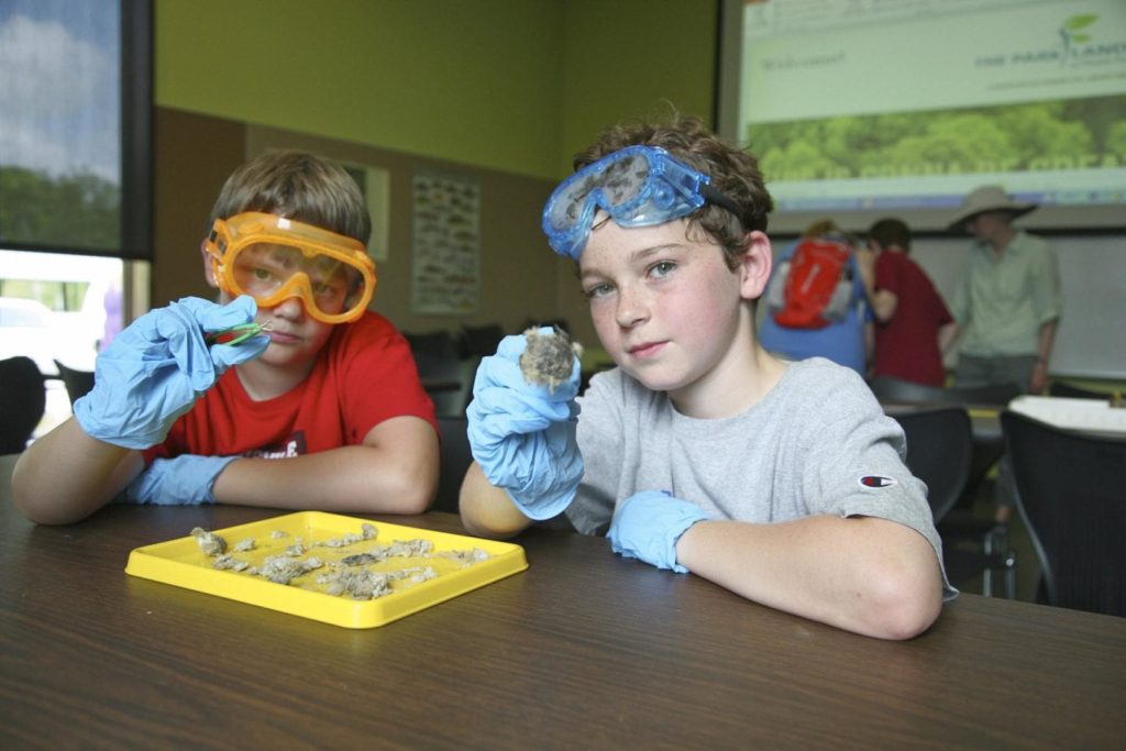 Two children pose during a learning lab