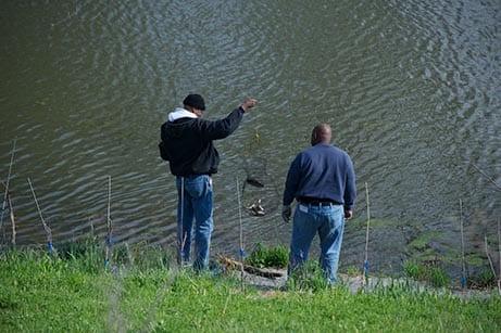 Men fish
