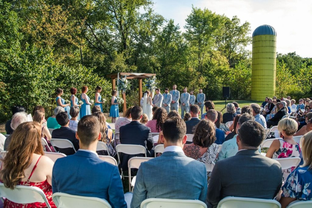Ceremony on Gheens Foundation Lodge Lawn