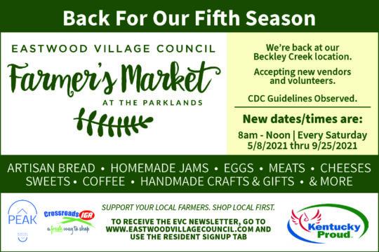 Eastwood Village Farmer's Market flyer